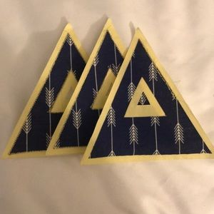 TriDelta stitched letters